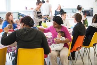 Sharing a meal at YPP 5